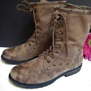 Roxy Surf Co. Concord Distressed Combat Boots 10